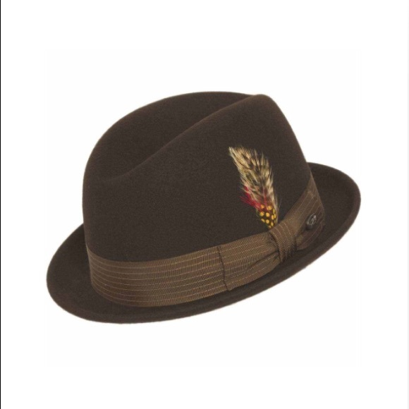 207d7a690aa98 Bailey Jamison Tino Wool Felt Trilby Fedora Hat